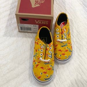 NEW vans toddler 9.5 pool vibes yellow